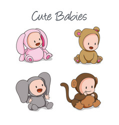 baby born kid shower cartoon people children boy vector image