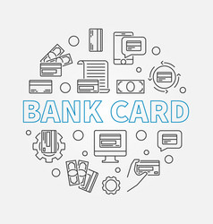 bank card concept round in vector image