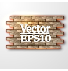banner from the tree vector image