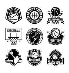 Basketball badges vector