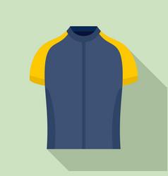 Bike shirt icon flat style vector