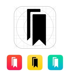 Bookmarks icon vector image