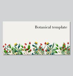 Botanical template vector