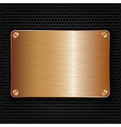 Bronze texture plate with screws vector