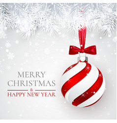 christmas and new year background with vector image