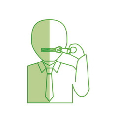 Closed zipped mouth vector