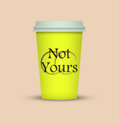 colorful coffee cup to go with text vector image