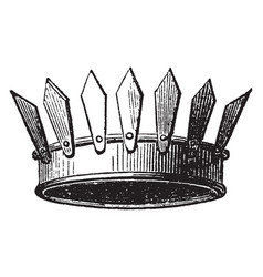 Crown vallary vintage engraving vector