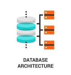 Database architecture icon vector