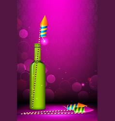 Diwali firecracker vector