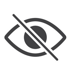Do not spy glyph icon web and mobile not visible vector