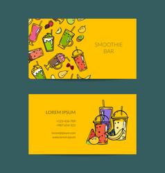 doodle smoothie for cafe or vegan bar vector image