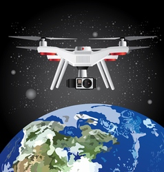 Drone Outer Space Earth vector