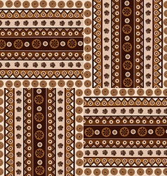 Ethnic ornaments seamless pattern in african style vector
