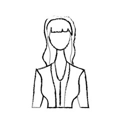 Figure cute woman with hairstyle and elegant vector