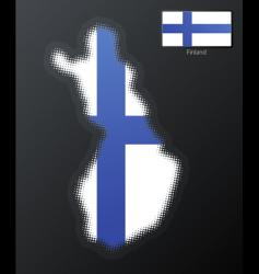 Finland modern map vector image