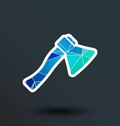 fire ax icon button logo symbol vector image