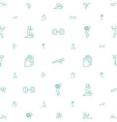Fit icons pattern seamless white background vector