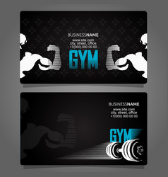 fitness and gym business card vector image