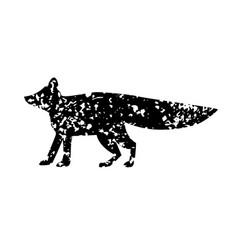 Fox texture vector