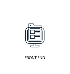 front end concept line icon simple element vector image