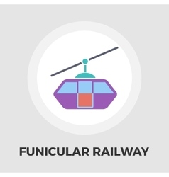 Funicular railway flat icon vector