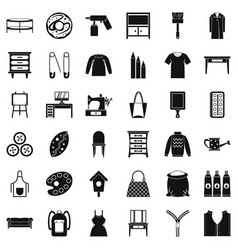 Garment icons set simple style vector