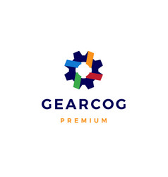 gear cog cogs logo icon vector image