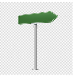 green blank street sign isolated transparent vector image