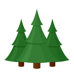 green christmas winter tree icon seasonal vector image
