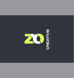 Green letter zo z o combination logo icon company vector