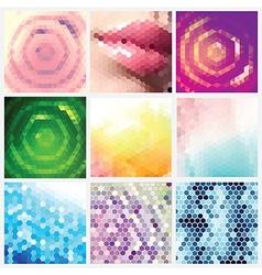 Hexagonal Pattern Set vector