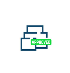 home plan layout approved icon vector image