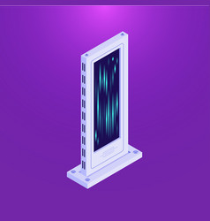 Isometric flat database server tower vector