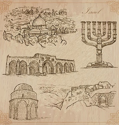 Israel - An hand drawn collection pack vector