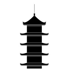Japanese temple isolated icon vector