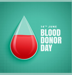 june world blood donor day concept background vector image