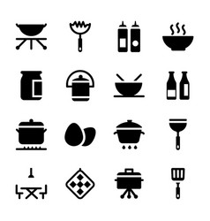 Kitchen gadgets icons pack vector