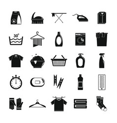 laundry service icons set simple style vector image