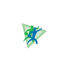 Leadership and recruitment agency logo desi vector