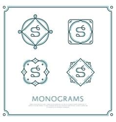 Letter S Monogram vector image