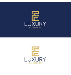 luxury logo e modern style vector image