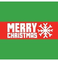 Merry christmas snowflake postcard vector image