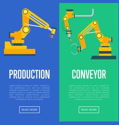modern production line concept set vector image