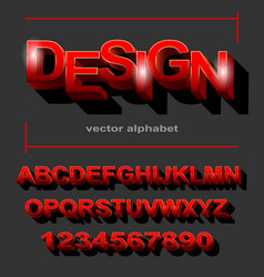 modern red font design for typography on grey vector image