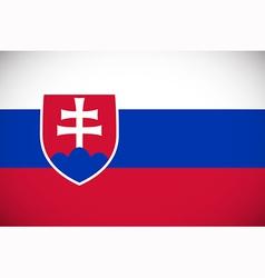 national flag slovakia vector image