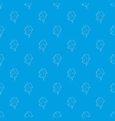 nesting box pattern seamless blue vector image