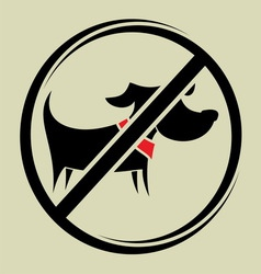 no dogs allowed2 vector image