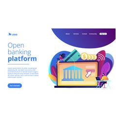 open banking platform concept landing page vector image