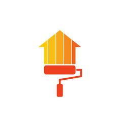 paint house logo icon design vector image